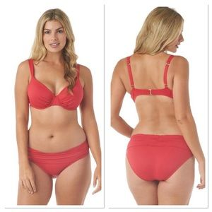 Jantzen Rich Red Two Piece Bikini Swimwear
